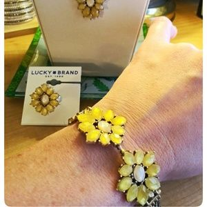 Lucky Brand Floral Gold Bracelet NWT